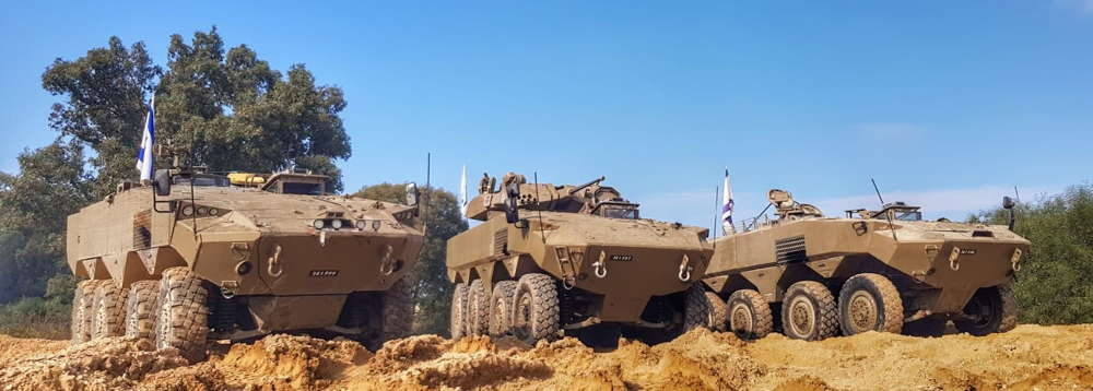 Israel lanza la producción en serie de nuevos vehículos de combate con ruedas