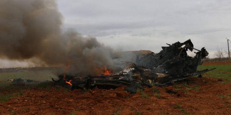 Rebeldes respaldados por Turquía derriban helicóptero sirio en Idlib