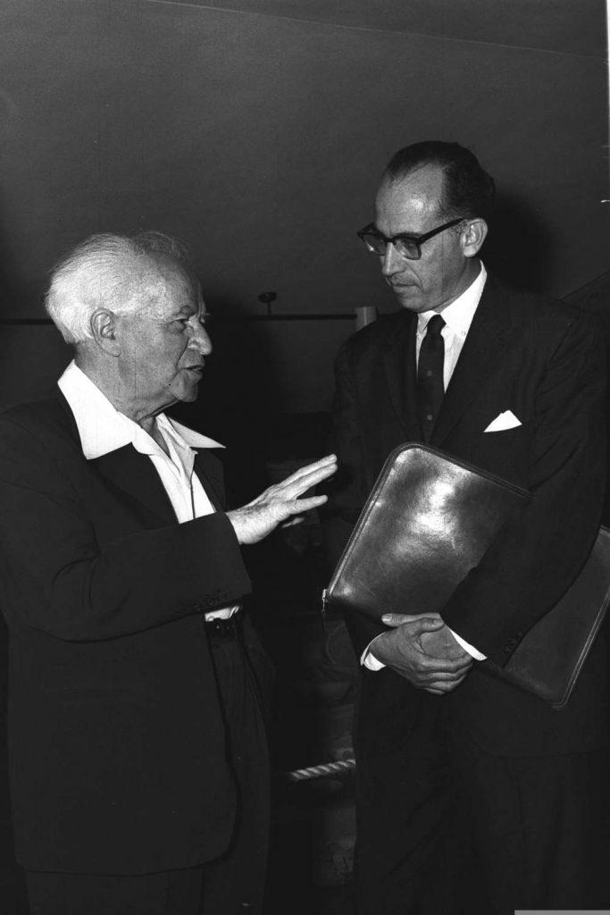 Inventor de la vacuna contra la polio Jonas Edward Salk en la Universidad Hebrea (Foto: Fritz Cohen, GPO)