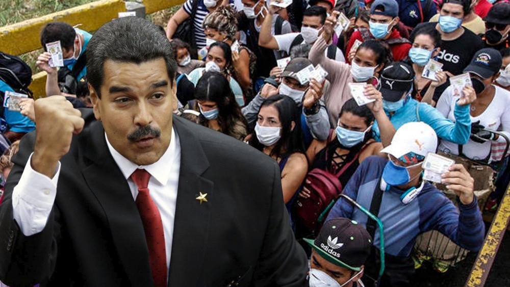 Maduro ofrece amor a los inmigrantes y luego los encierra y golpea