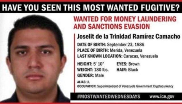EE.UU. ofrece recompensa de $ 5 millones por el arresto del jefe de criptografía de Venezuela