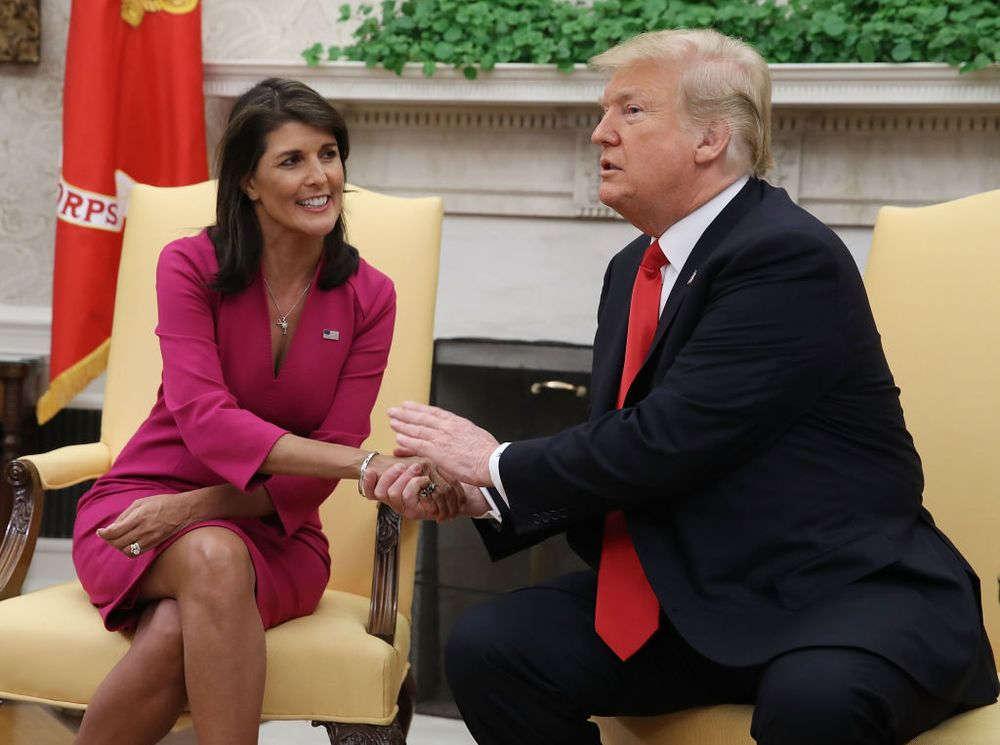 Nikki Haley: No me presentaré a la presidencia si lo hace Trump