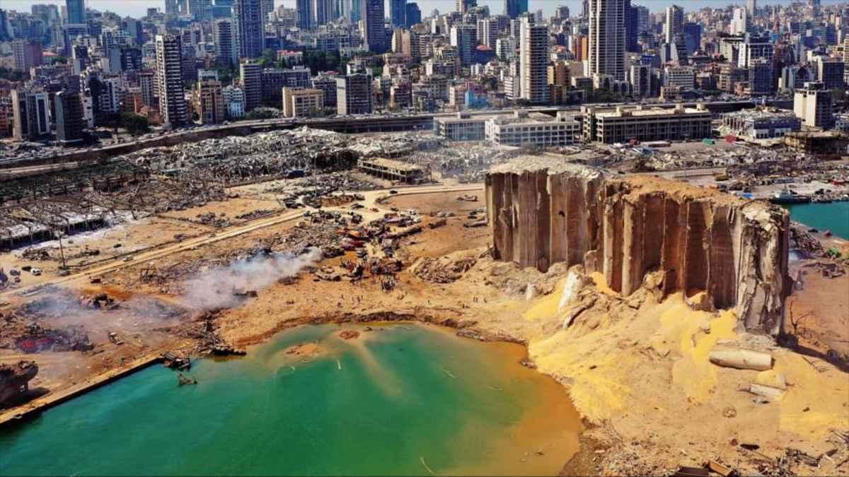 Explosión en Beirut dejó un cráter de 43 metros de profundidad