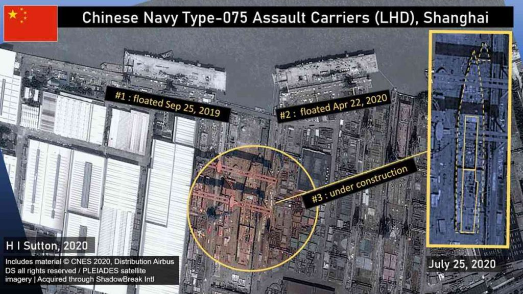China está construyendo más portaaviones de asalto Tipo 075