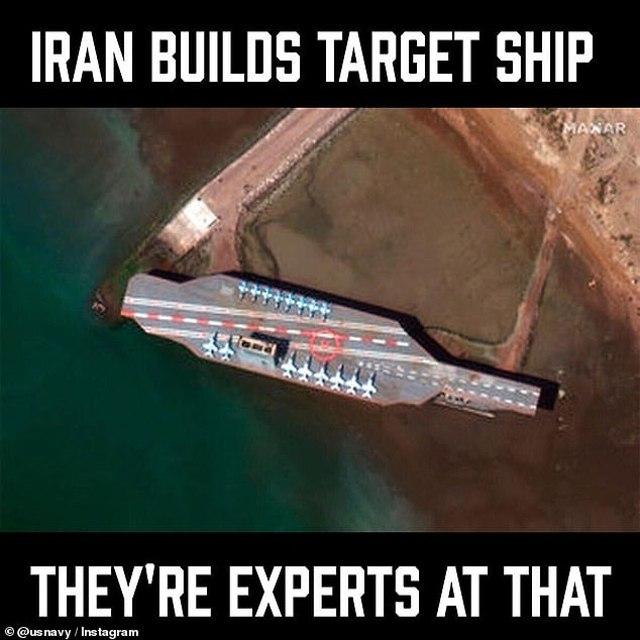 EE.UU. se burla de la capacidad de Irán para construir réplica de un portaviones americano