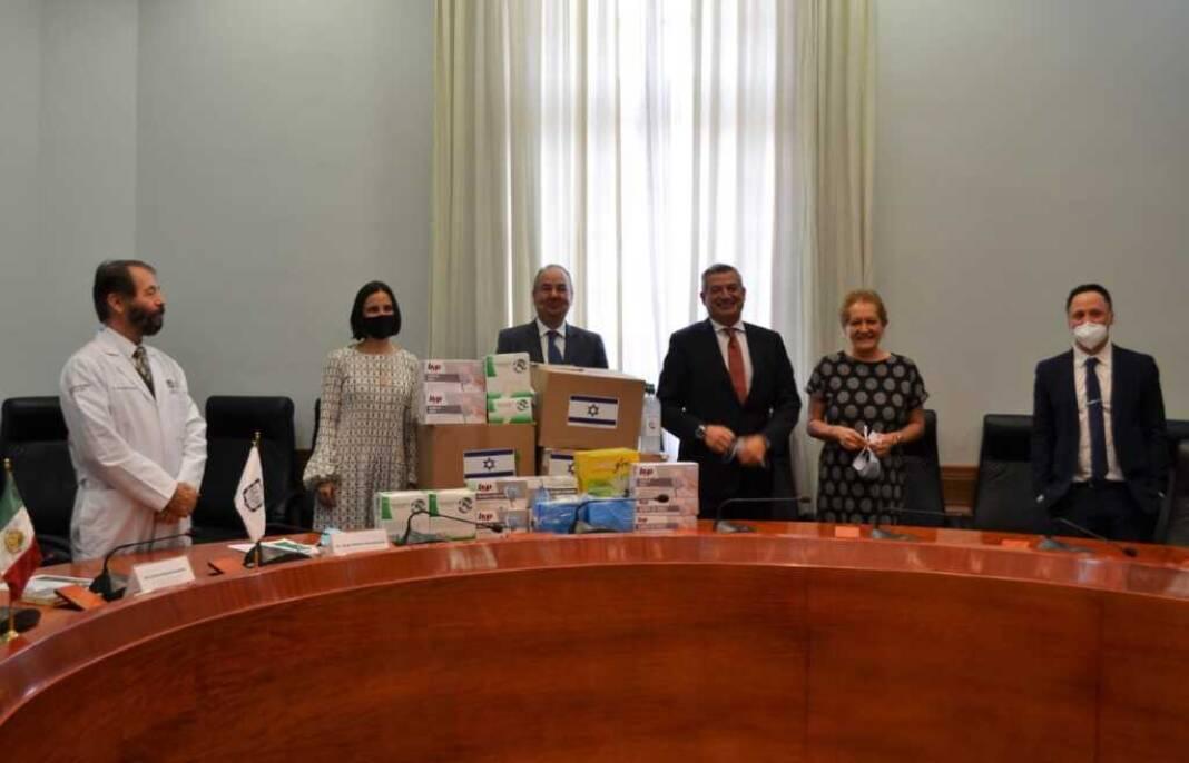 Embajada de Israel y Camara de comercio México Israel donan insumos médicos para la CDMX