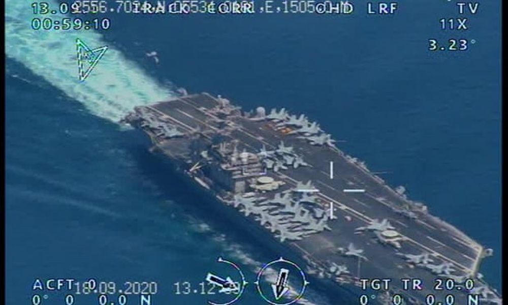 Irán voló dron de vigilancia sobre portaaviones de EE.UU. cerca del Golfo Pérsico