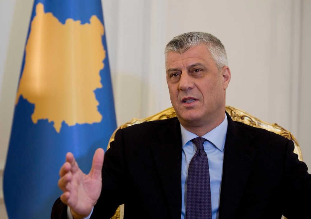 El presidente de Kosovo Hashim Thaci