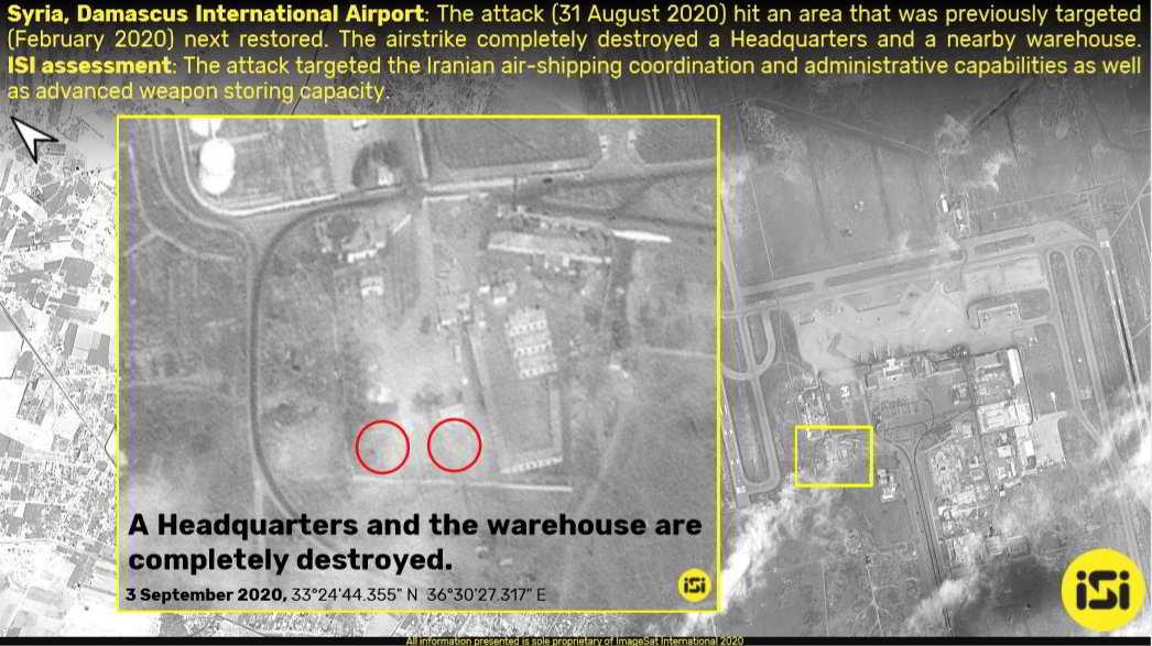 Imágenes de satélite muestran secuelas de los ataques en Siria