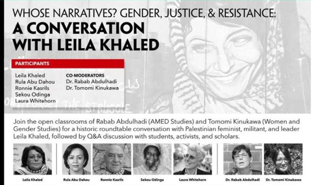 Zoom prohíbe seminario web de terrorista Leila Khaled en Universidad Estatal de San Francisco