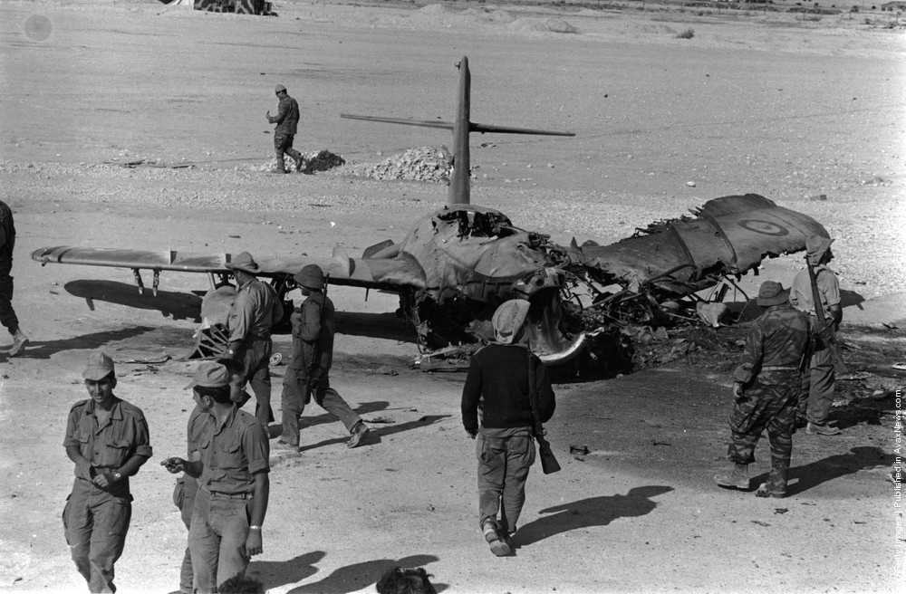 Egyptian planes destroyed in 1967