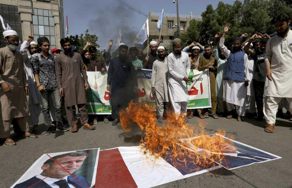 Protestas contra Macron