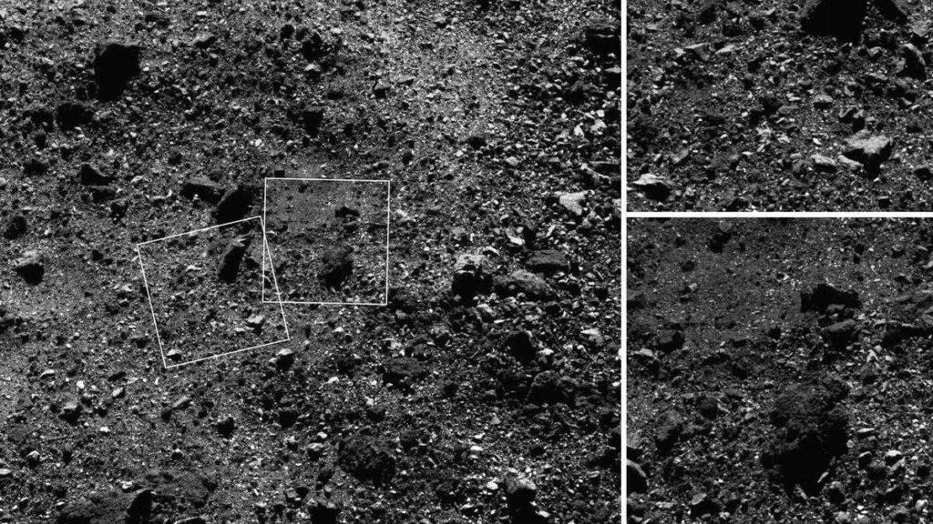 crater en asteroide