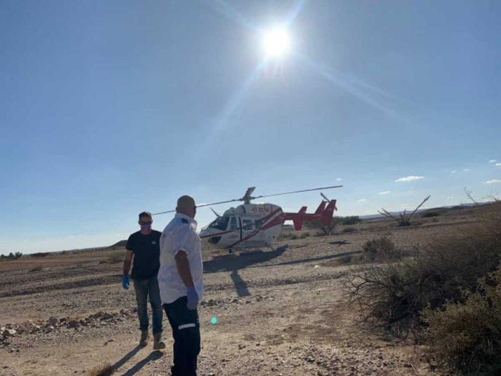 Rescatistas helicoptero