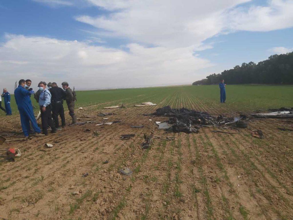 Dos muertos en accidente aéreo en el sur de Israel