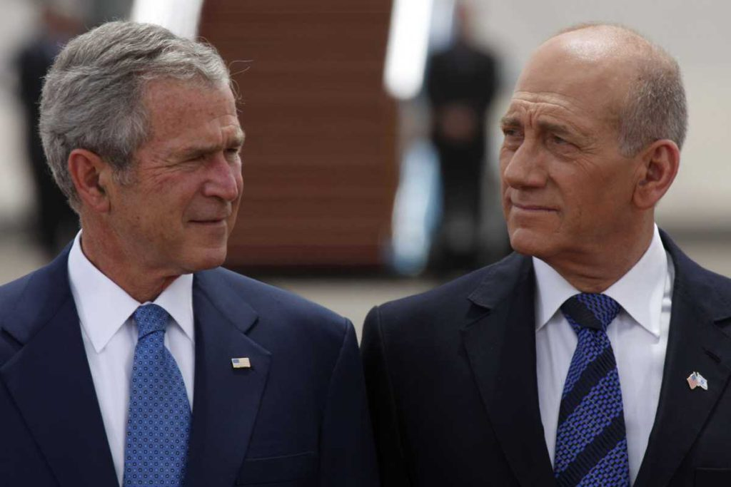 Olmert y Bush