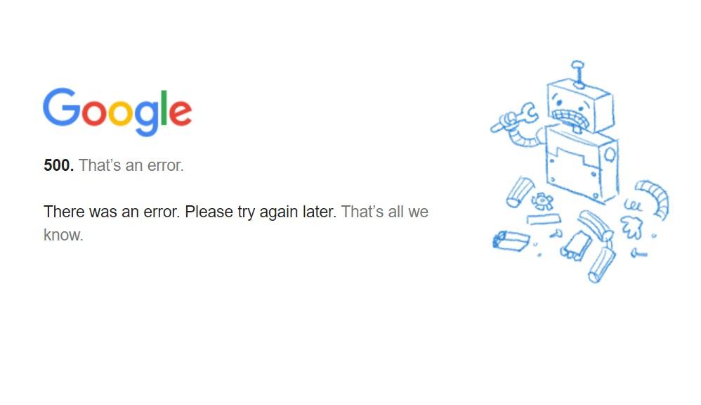 Caída global de YouTube, Gmail y Google Drive