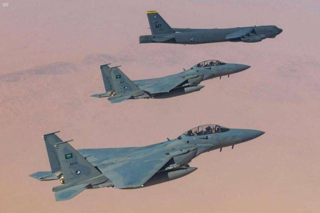 Mensaje a Irán: Bombarderos de EE.UU maniobraron con cazas de Arabia Saudita