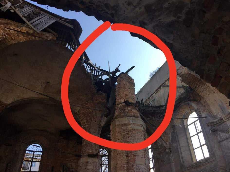 Se derrumba el techo de sinagoga del siglo XVIII en Ucrania