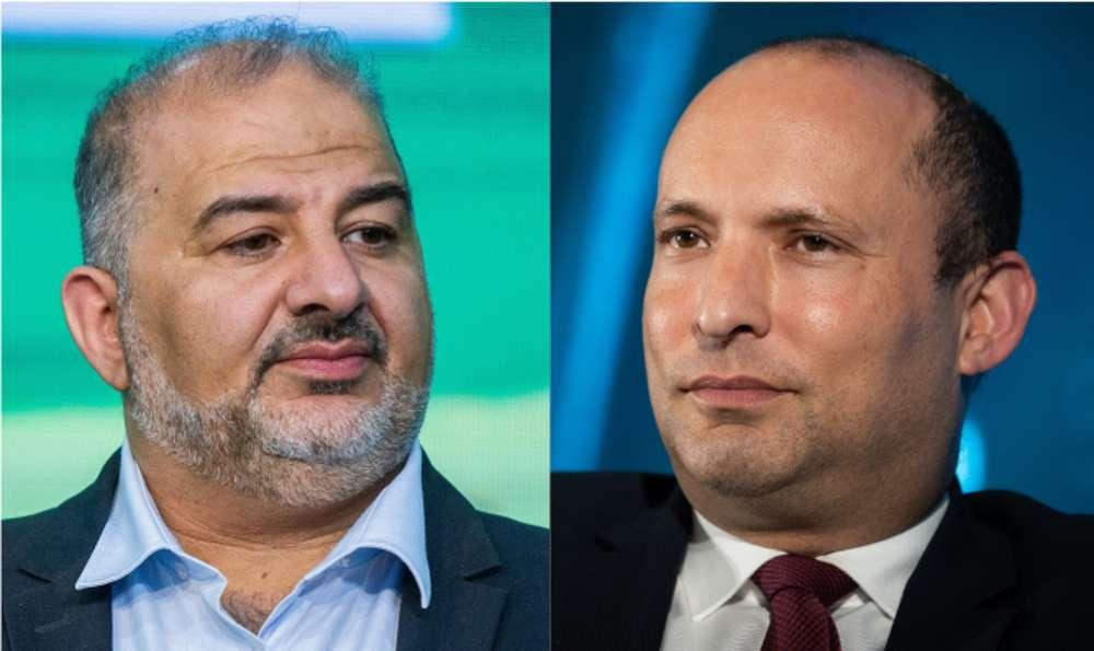 Bennett se reúne con el jefe de la Lista Árabe, Mansour Abbas