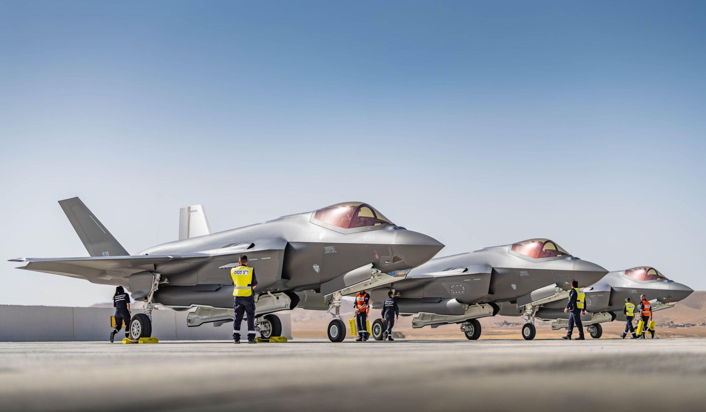 Israel recibe otros tres cazas furtivos F-35