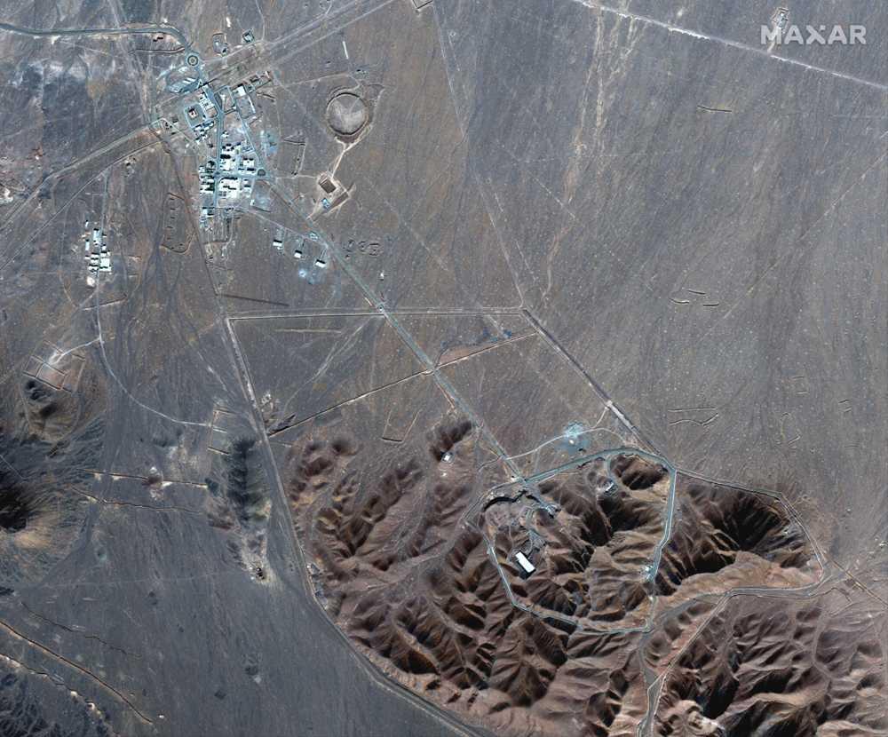 Esta foto de satélite del 4 de noviembre de 2020, realizada por Maxar Technologies, muestra la instalación nuclear iraní de Fordo (Maxar Technologies vía AP)