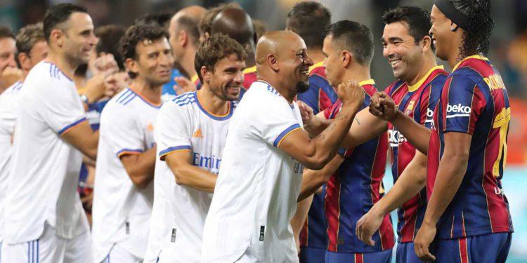 Ex estrellas del Real Madrid derrotan al FC Barcelona en Tel Aviv