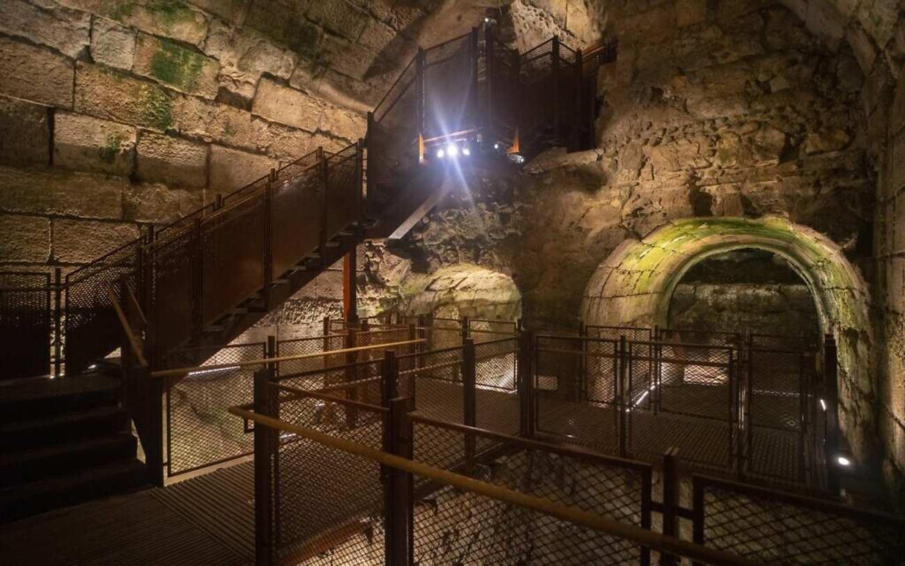 Hallan opulento edificio de 2 mil años de antigüedad cerca del Muro Occidental
