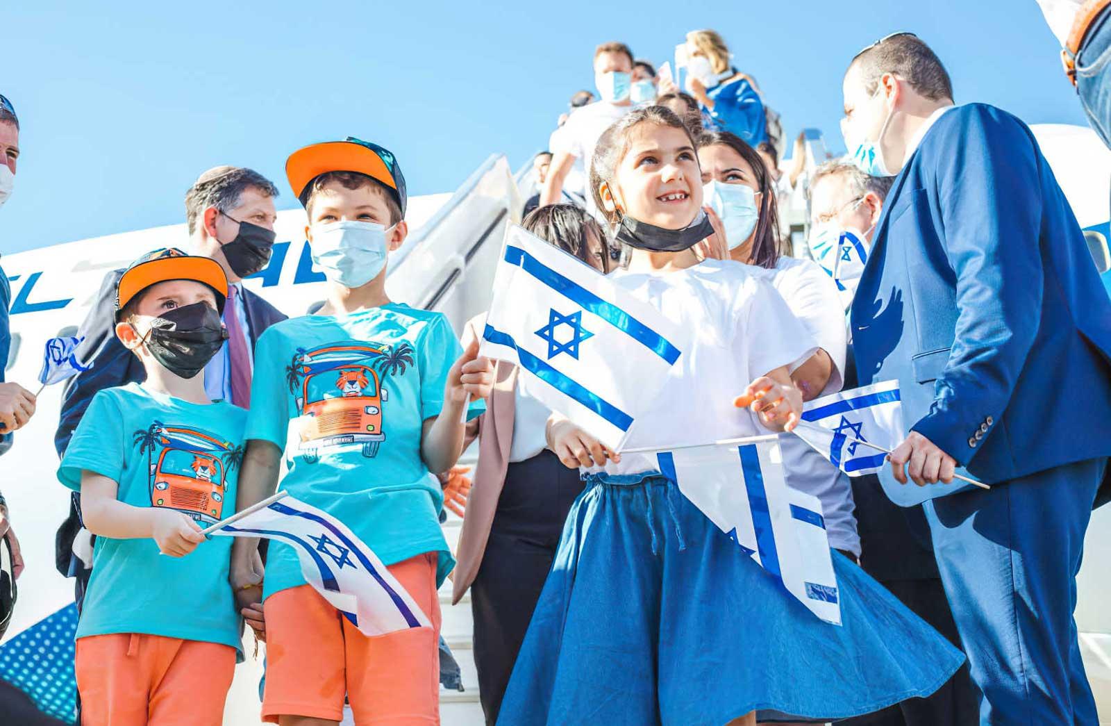 160 olim franceses llegan a Israel en un vuelo especial