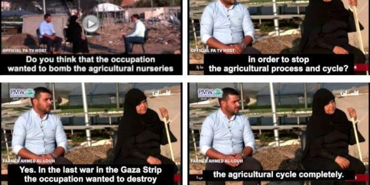 TV de la Autoridad Palestina afirma falsamente que Israel intentó destruir la agricultura de Gaza