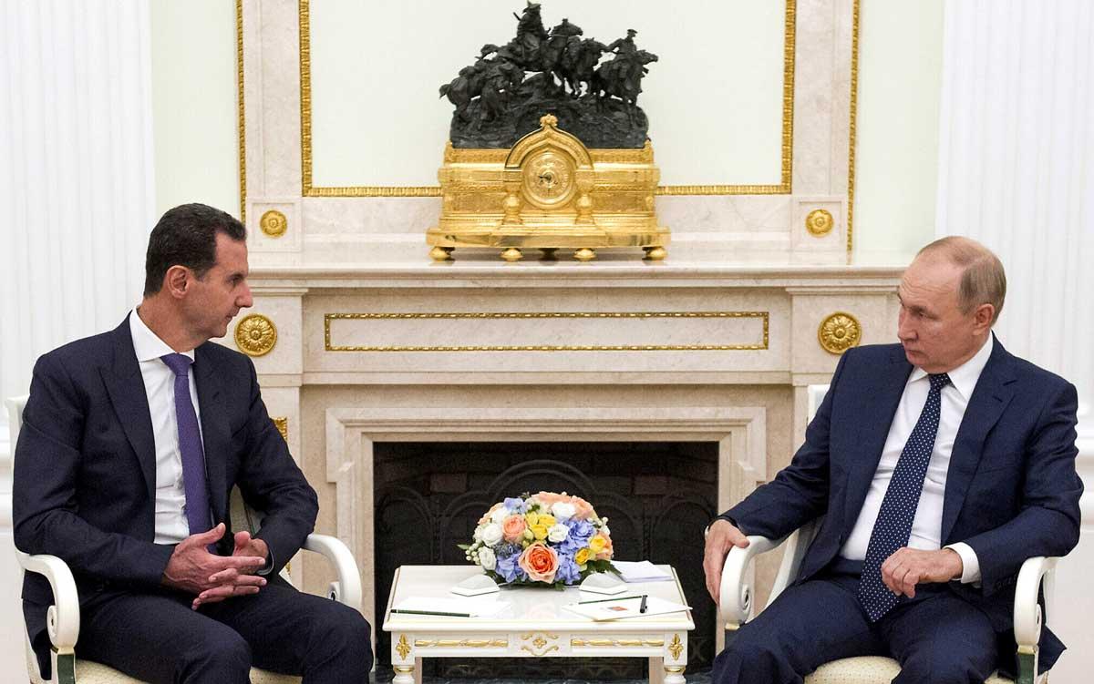 Putin y Assad se reúnen en Moscú para dialogar sobre la captura de zonas rebeldes en Siria