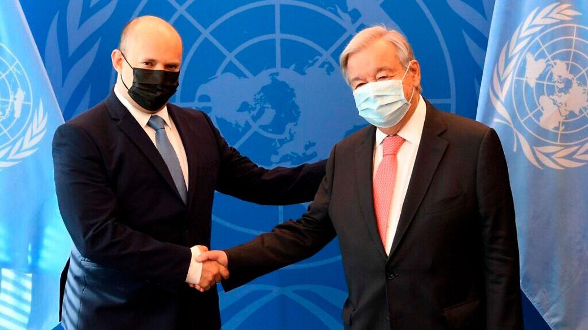 Bennett planteó la cuestión de los israelíes cautivos en Gaza al secretario general de la ONU