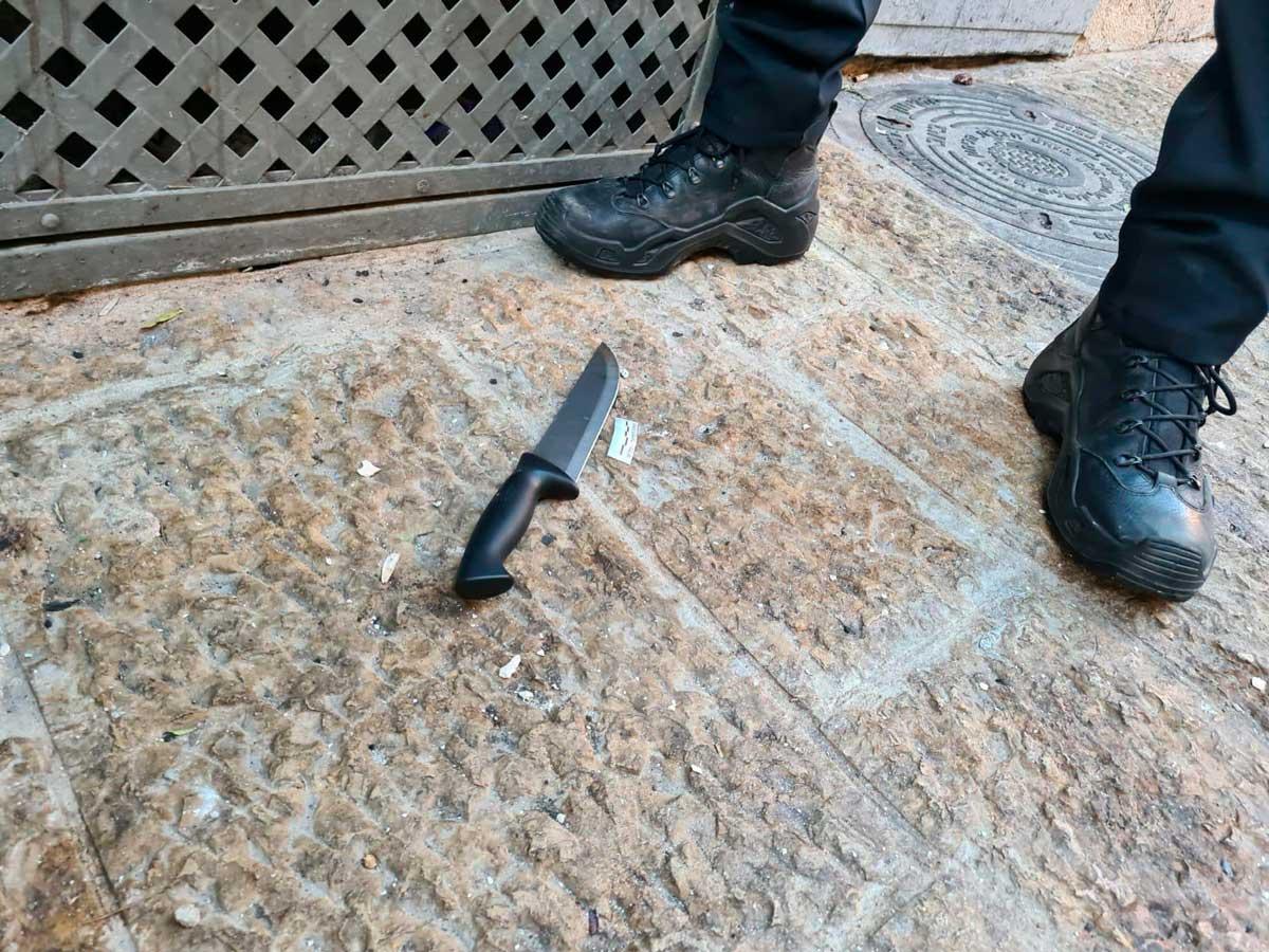 Terrorista árabe abatida al intentar ataque de apuñalamiento en Jerusalén