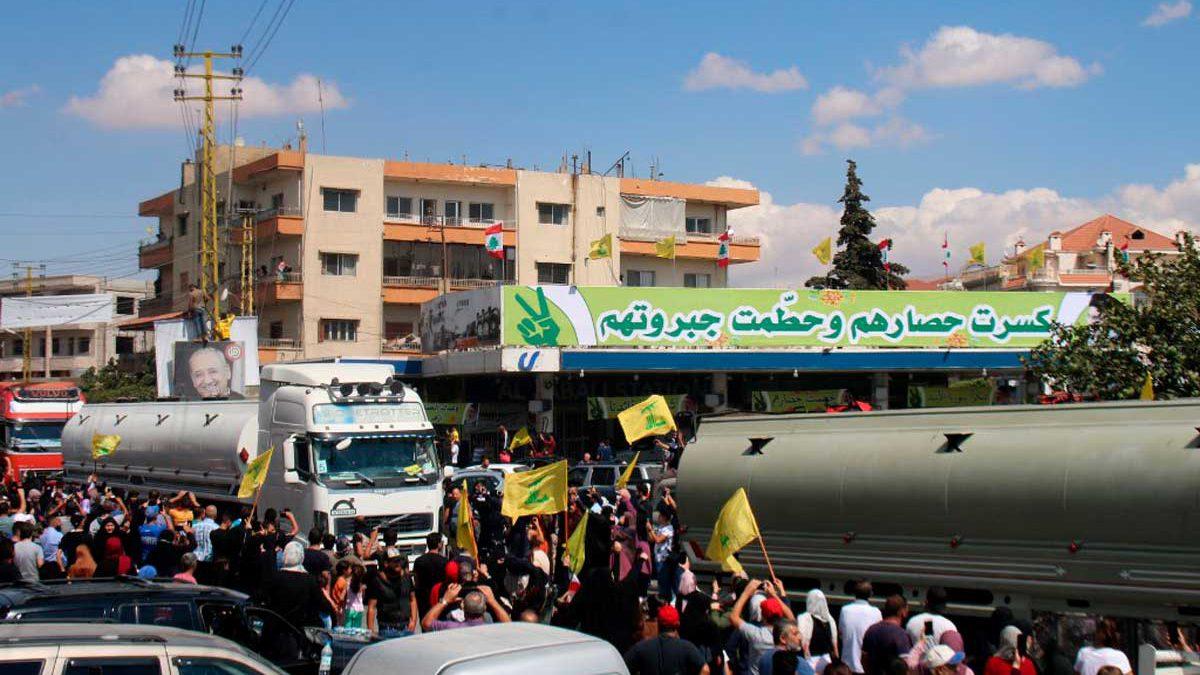 Israel no interferirá en los envíos de petróleo de Irán al Líbano dirigidos por Hezbolá