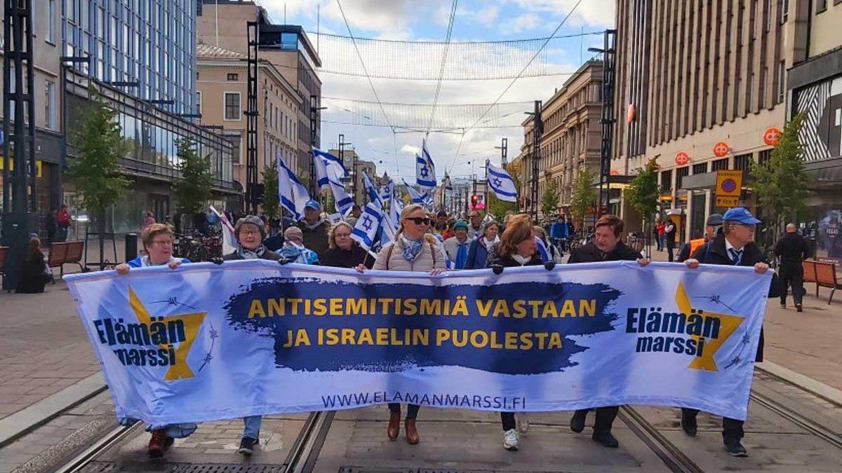Finlandia se manifiesta contra el antisemitismo en una marcha pro Israel