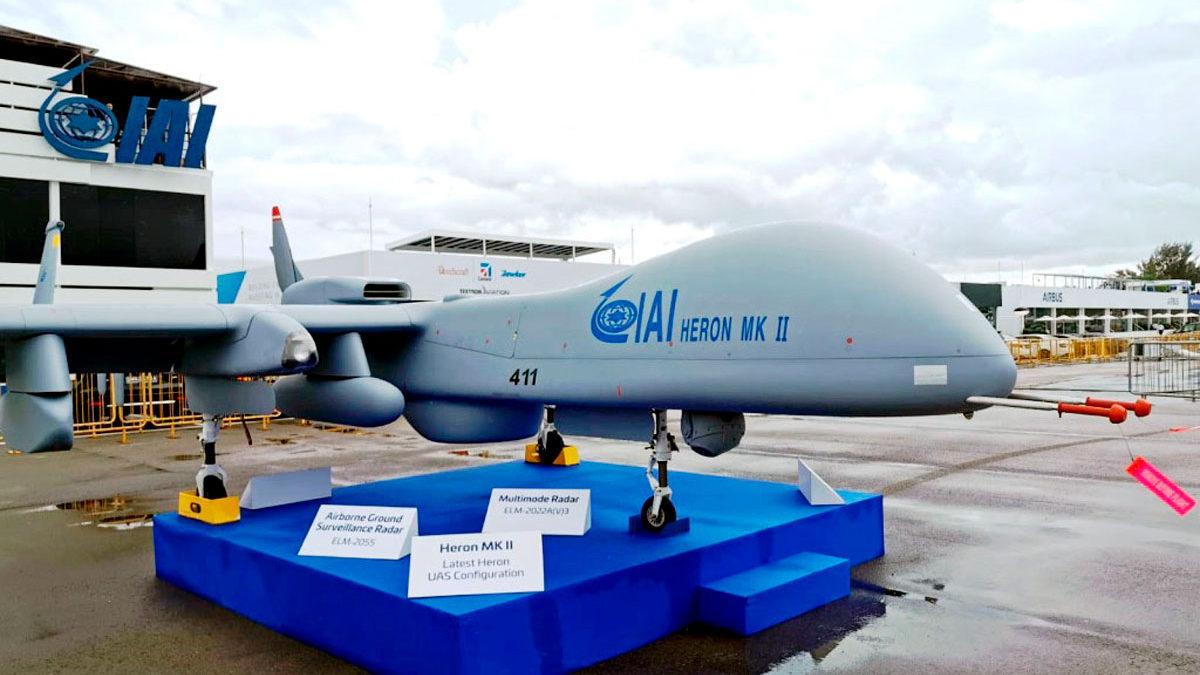 India compra 4 drones Heron de Israel para vigilar la ciudad de Ladakh