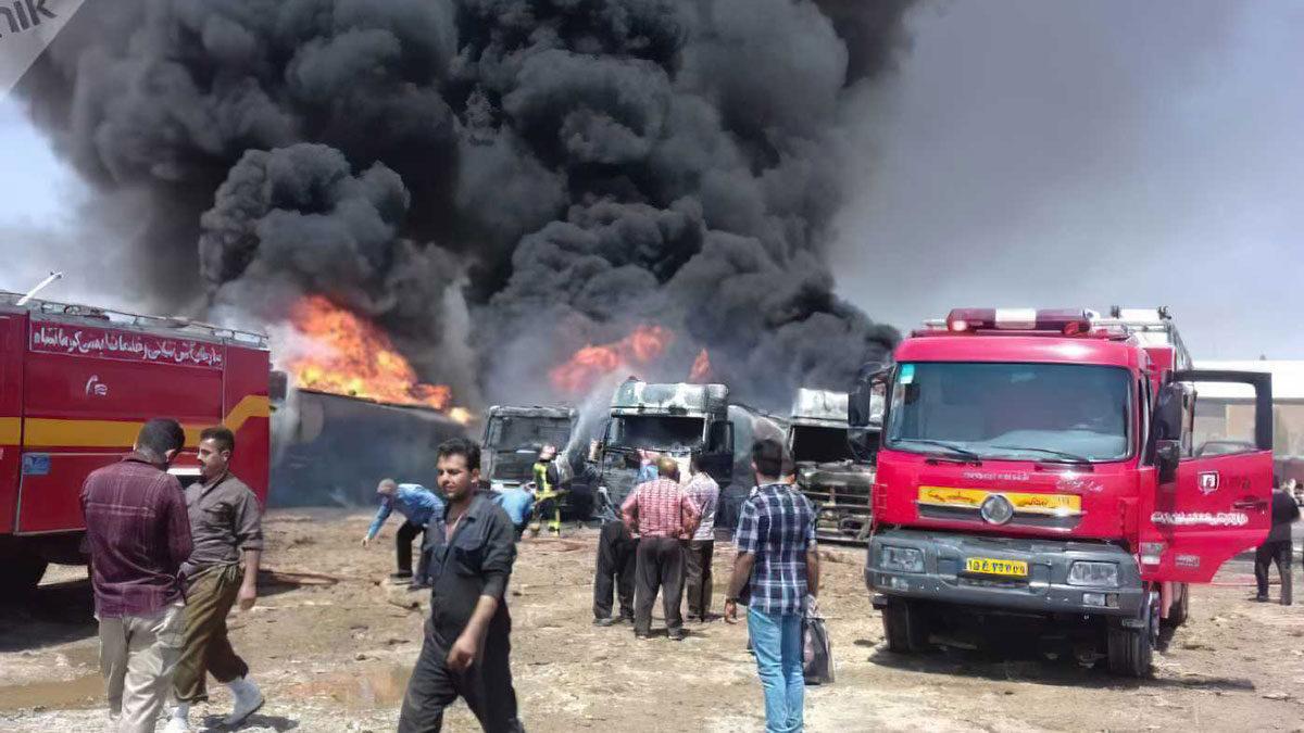Dos miembros del CGRI de Irán murieron en un incendio cerca de Teherán