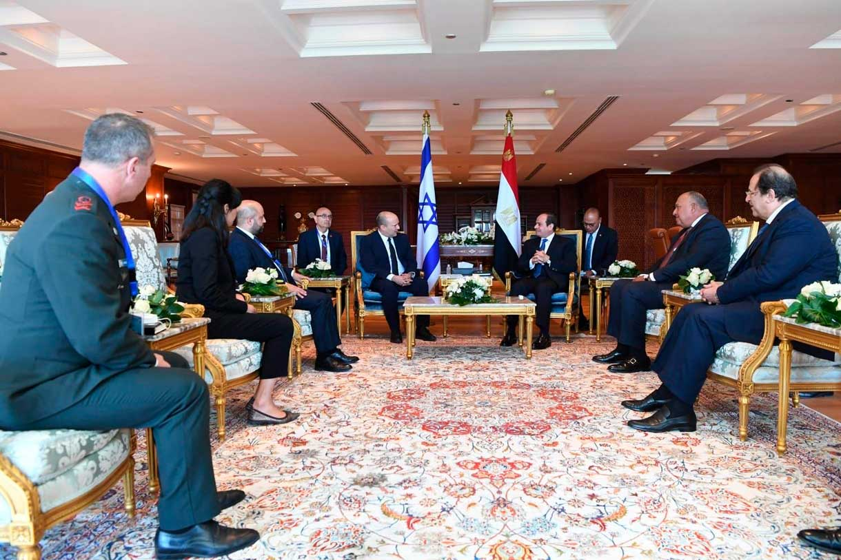 Bennett y Sisi hablan de la amenaza iraní y de Hamás