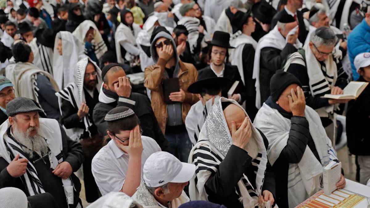 Un millón de personas visitaron el Muro Occidental durante las Altas Fiestas
