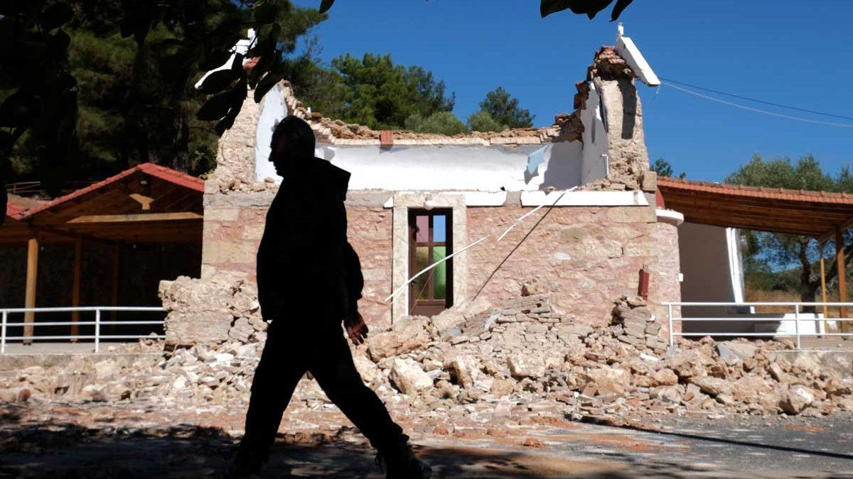 Un fuerte terremoto sacude la isla griega de Creta: 1 muerto y 9 heridos