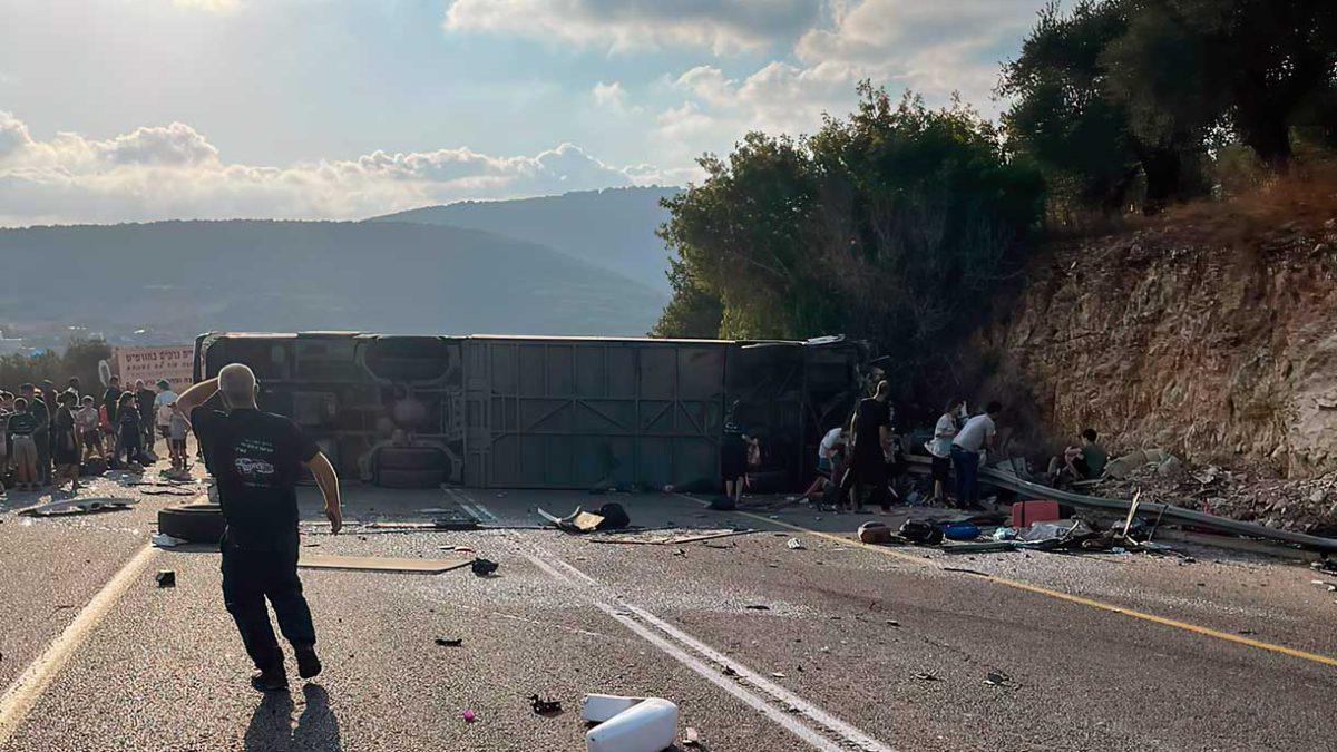 Decenas de heridos en colisión entre autobús y automóvil en Galilea