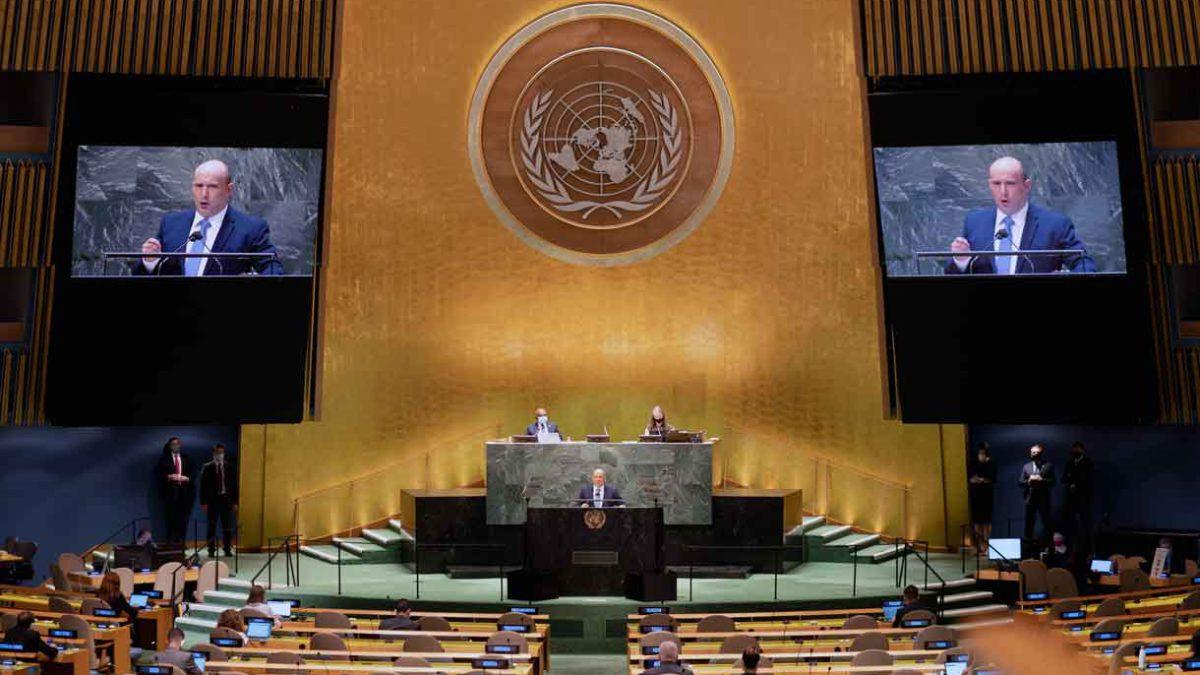 """Bennett en la ONU: Odiar a Israel no te hace """"despierto"""""""