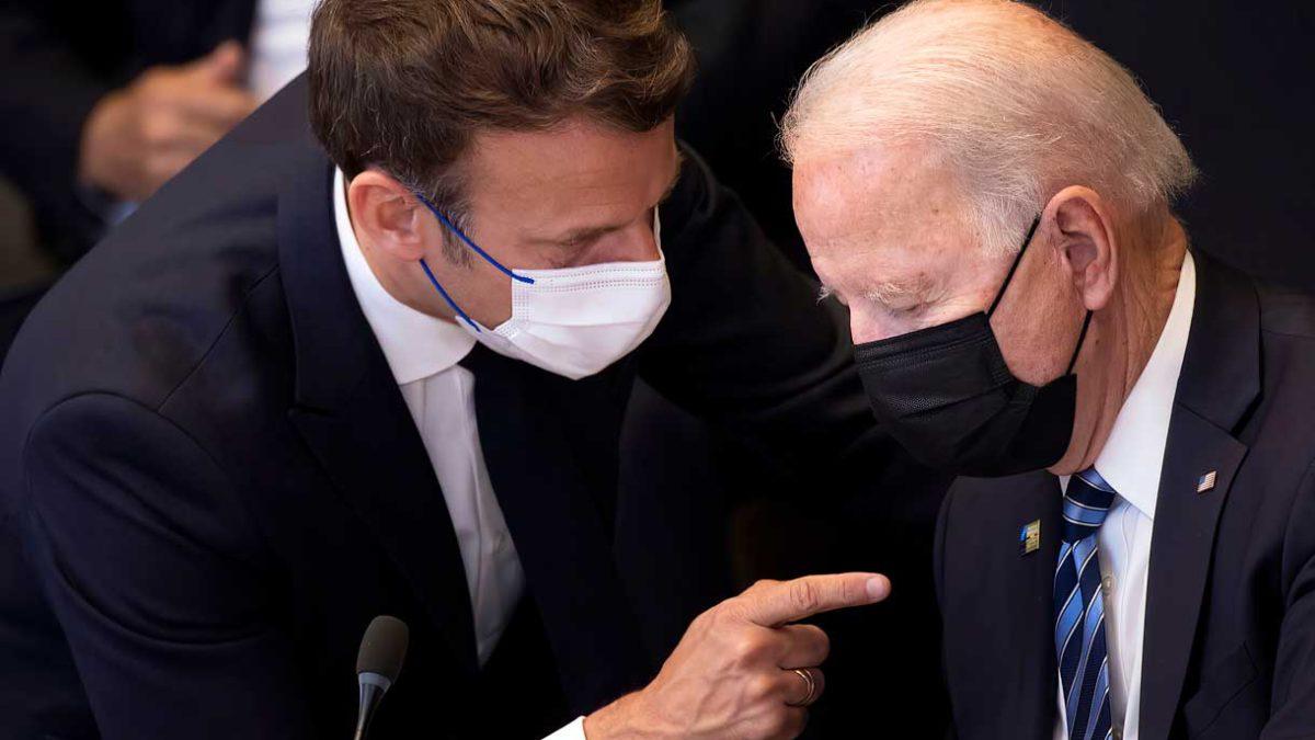 Biden busca reconciliarse con Macron en medio de la escalada del conflicto por los submarinos