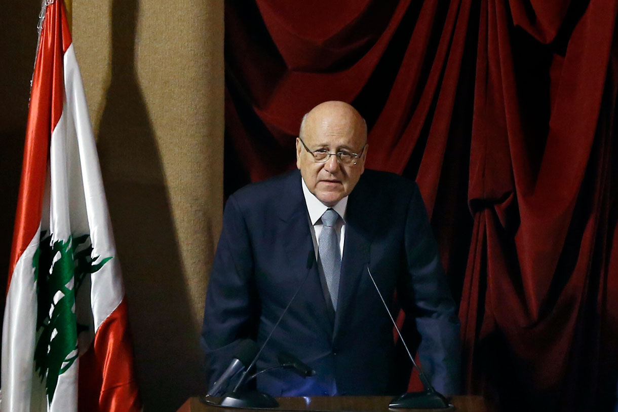 """Primer ministro libanés promete recuperar las tierras """"ocupadas por Israel"""""""