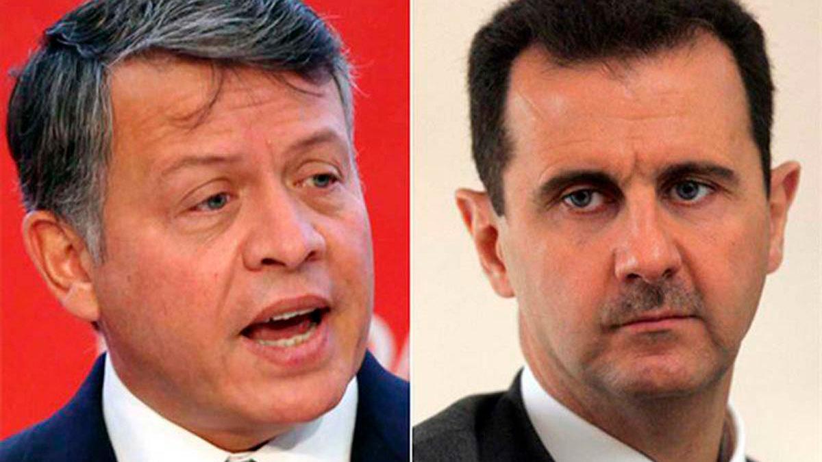 El rey de Jordania habla con Assad de Siria por primera vez en más de una década