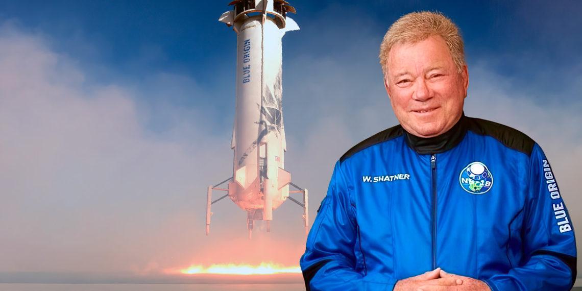 William Shatner se dirige a la última frontera con Blue Origin