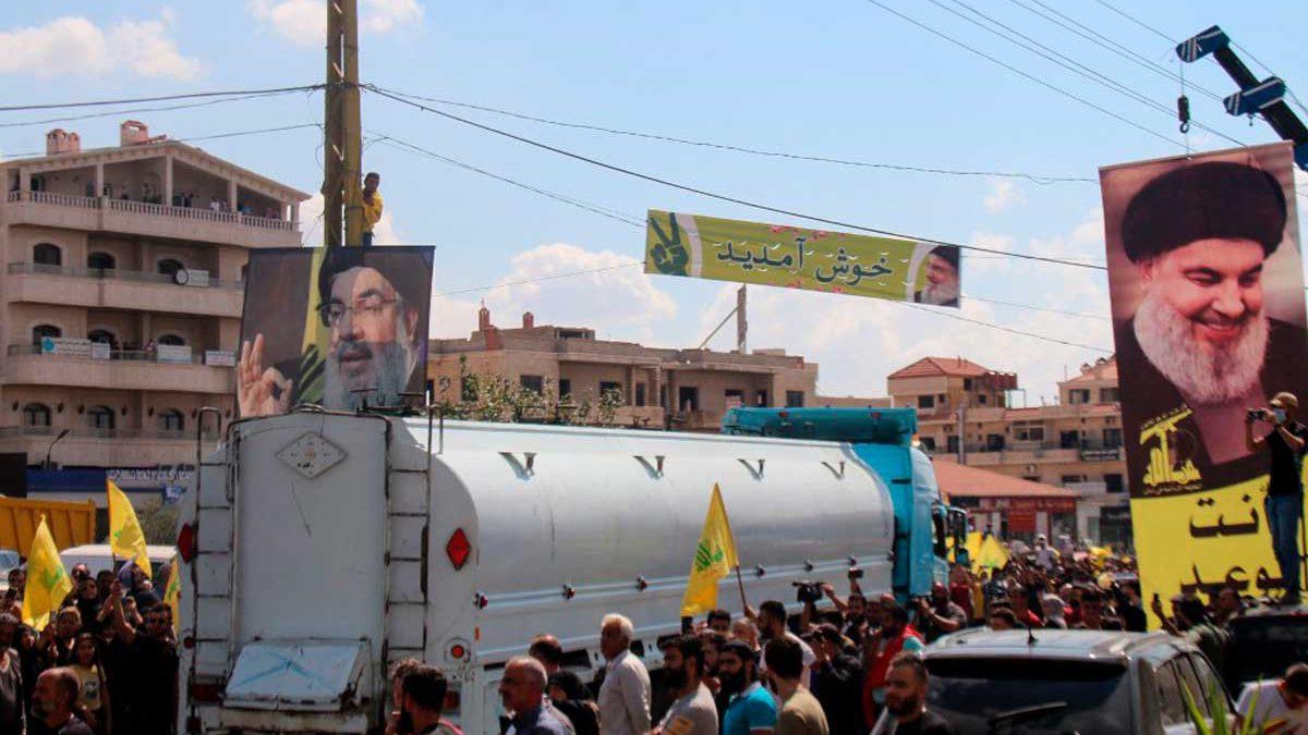 El tercer envío de petróleo iraní dirigido por Hezbolá llega a Siria en ruta hacia el Líbano