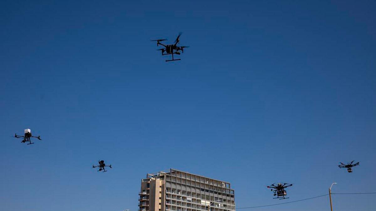 Los drones comerciales pronto volarán sobre los cielos de Israel