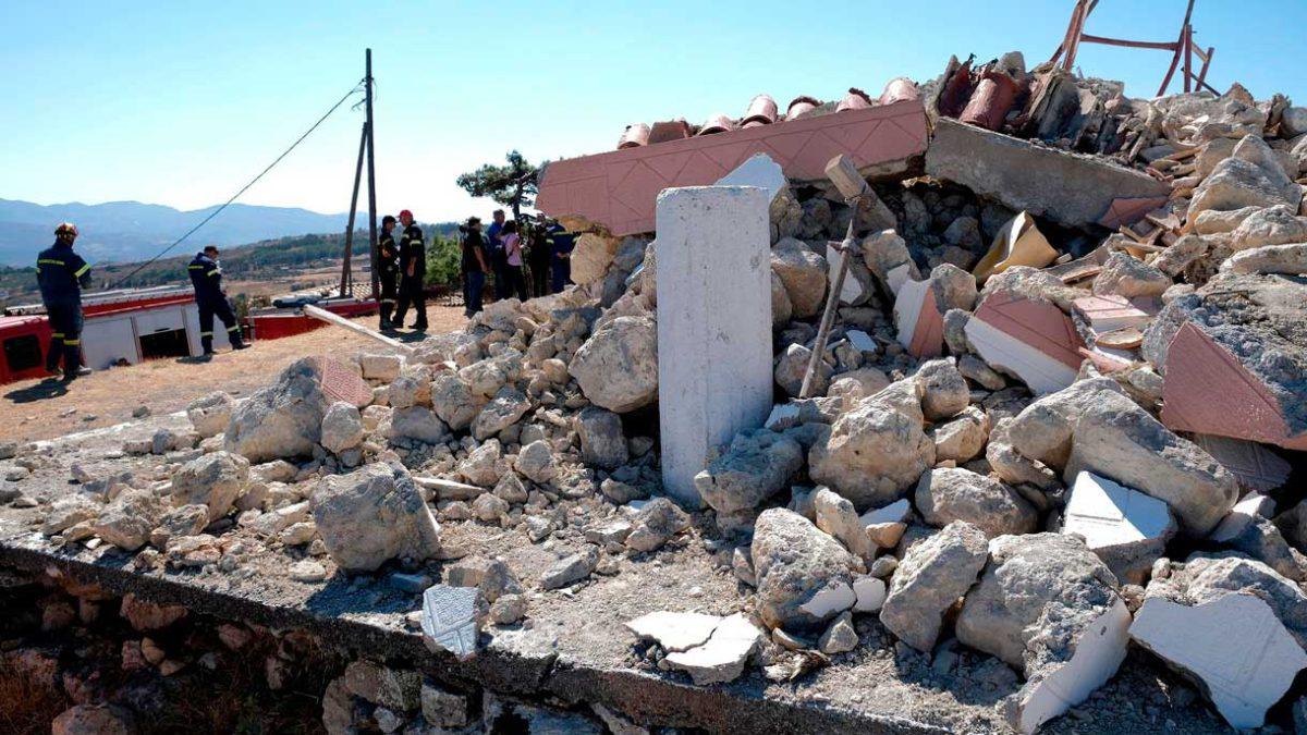 Fuerte terremoto de magnitud 6.3 sacude la isla griega de Creta