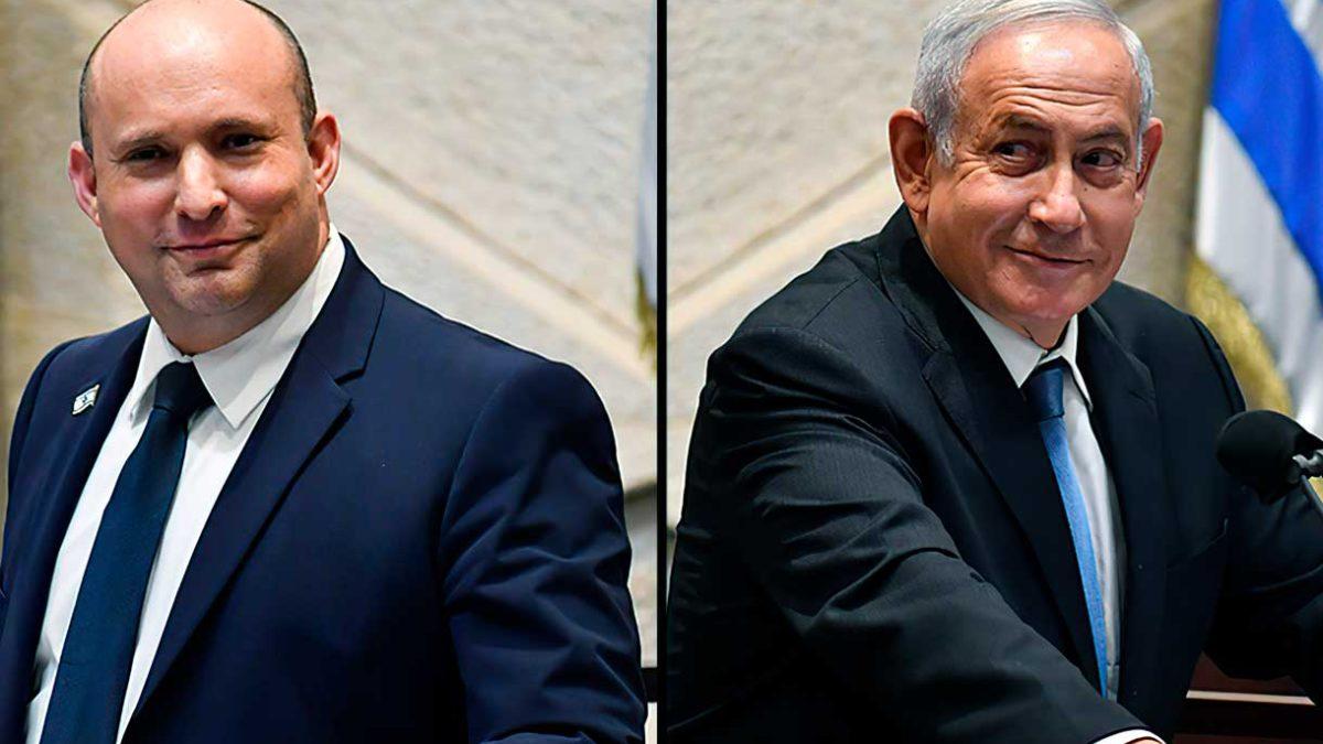 Netanyahu desaira a Bennett en la despedida del jefe del Shin Bet